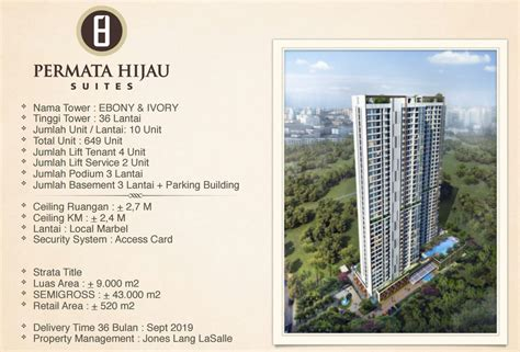 marketing permata hijau suites apartment jak sel