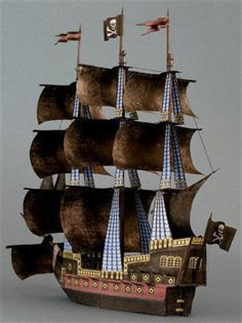 How To Make A Pirate Ship With Paper - of the caribbean black pearl waterline pirate