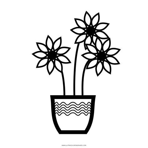 vasi con fiori da colorare vasi di fiori disegni