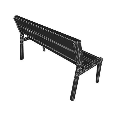 bench max modern bench collection 6 3d model max obj 3ds fbx mtl