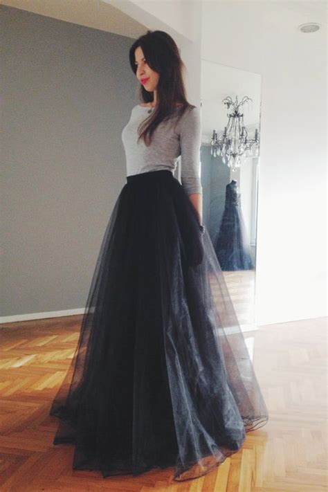 Dress Wedges Hitam Lengan Panjang Miranda Black Dress Up Ak Fzk4 12 that show how to rock a tulle skirt pretty designs