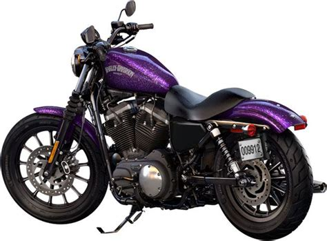 sportster iron 883 with purple metal flake paint motorcycle sportster iron