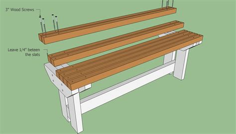 build bench seat diy how to make a park bench plans free