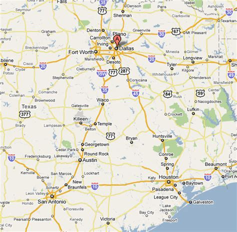 dallas on a texas map image dallas texas map