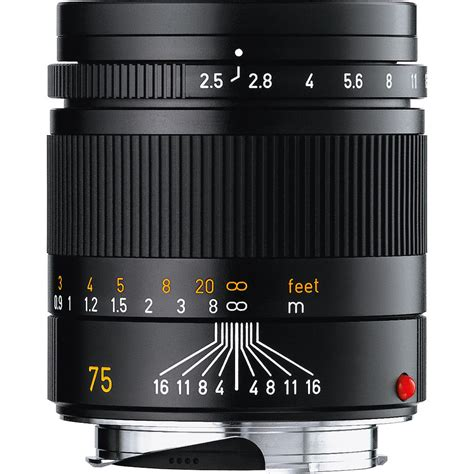 Leica Summarit M 35mm F 2 5 Black leica 75mm f 2 5 summarit m manual focus lens black 11