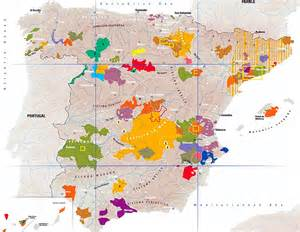 Spain Wine Map by Spanish Wines Sevilla Tapas