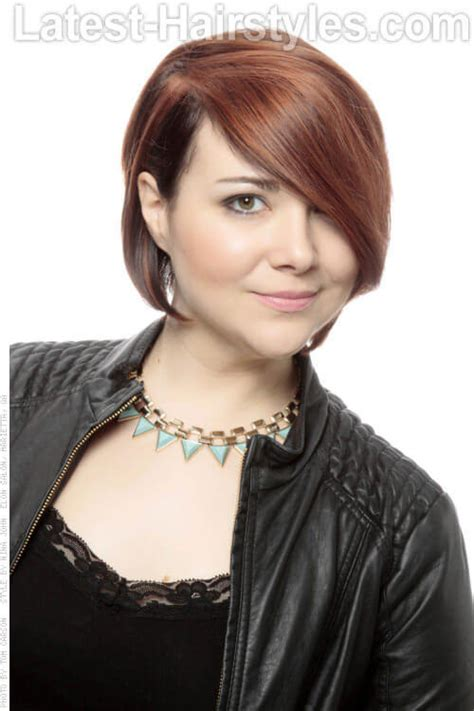 caramel brown bobs for round faces 39 perfect short hairstyles for round faces in 2018