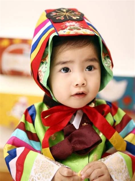 Dress Anak Korean Rainbow rainbow garment 한복 hanbok rainbows and child