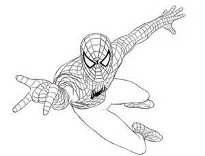 Photo A Colorier Spiderman L L L L L