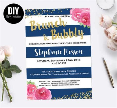 diy breakfast at s bridal shower invitations stripe brunch and bubbly bridal shower invitation 2597233 weddbook