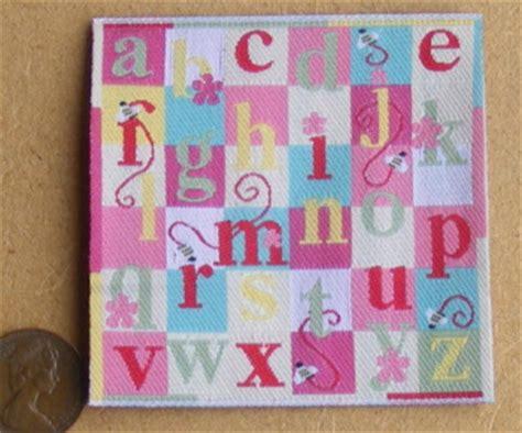 pink alphabet rug carpets dolls house miniature