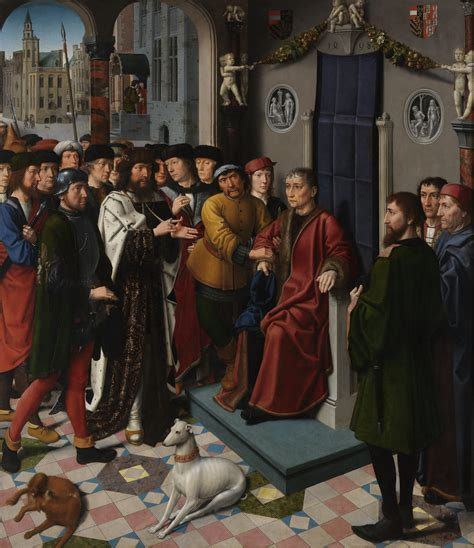 The Judgment Of by File Gerard David The Judgment Of Cambyses Panel 1