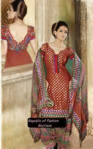Punjabi suits boutique punjabi suits neck designs 2014 party wear new