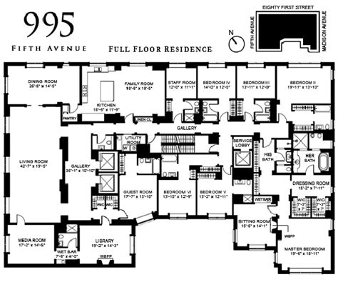 new york floor plans floor plan 995 fifth avenue variety