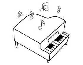 piano color dibujo de piano de cola para colorear dibujos net