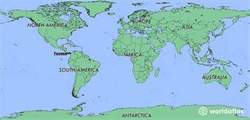 Panama On World Map by Where Is Panama Where Is Panama Located In The World