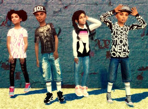 sims 4 children cc ebonix urban kidz collection sims 4 cc pinterest