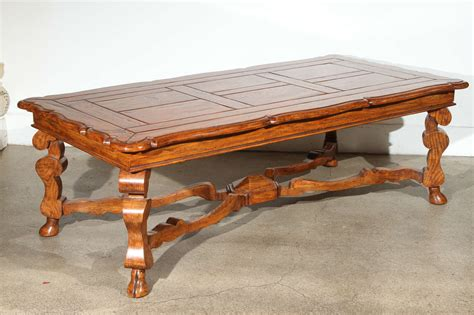 Handcrafted Wood Coffee Table - provencial handcrafted wooden coffee table at 1stdibs
