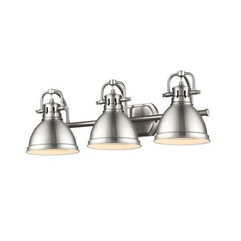 Golden Lighting Fixtures Golden Lighting Duncan Pewter Three Light Vanity Fixture On Sale