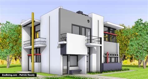 Interior Designer Architect schroder house zooboing illustrations