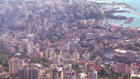 beirut lebanon circa 2013 the recently restored beirut lebanon circa 2013 high angle view of the urban