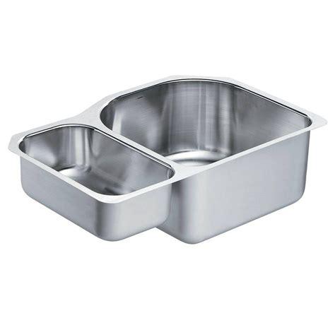 moen kitchen sinks undermount moen 1800 series undermount stainless steel 30 25 in