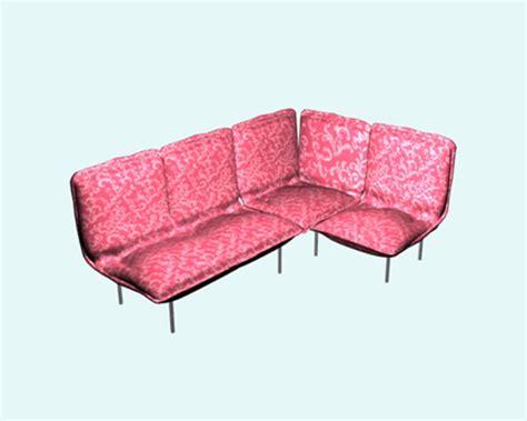 floral corner sofa floral fabric corner sofa 3d model 3ds max files free
