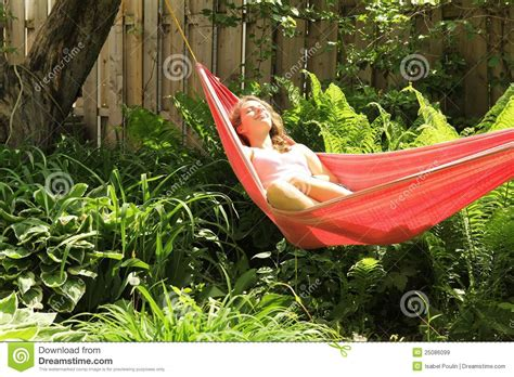 Lying In A Hammock lying in a hammock royalty free stock images image 25086099