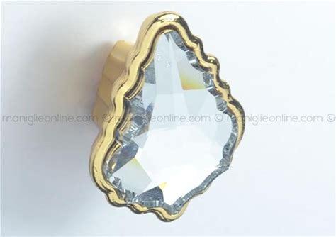 pomelli swarovski pomolo con cristallo swarovski oro