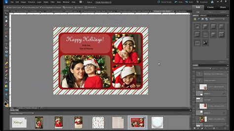 free card templates photoshop cs5 tutorial how to make a custom photo card with