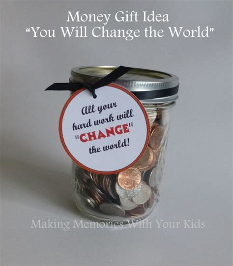 How Can I Get Cash For My Gift Card - you ll change the world money gift idea making memories with your kids