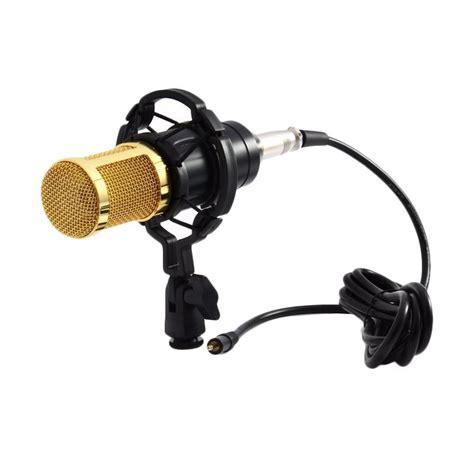 Mikrofon Kondenser Dengan Shock Proof Mount Bm 8000 Limited jual taffware bm800 mikrofon kondenser studio dengan shock