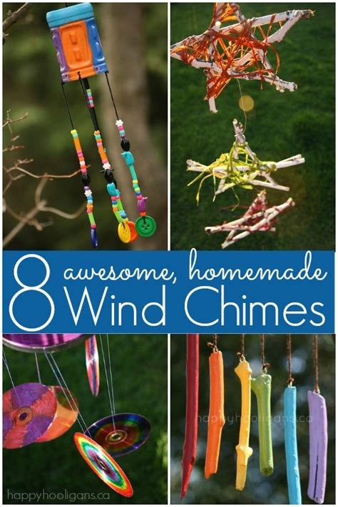 How To Make Handmade Wind Chimes - 8 wind chimes for happy hooligans