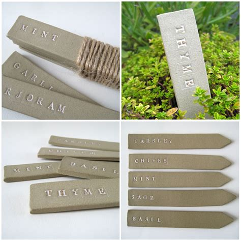 Planter Markers by Pots And Paint Garden Labels Ceramic Plant Markers