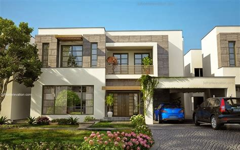 modern house front beautiful modern house 1 kanal lahore fachadas modern house and garage design