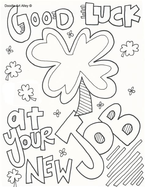good sheets good luck coloring sheets diannedonnelly com