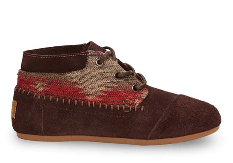 toms chocolate wool suede s tribal boots in brown lyst