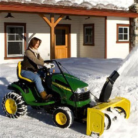 Galerry john deere lawn mowers with snow plow