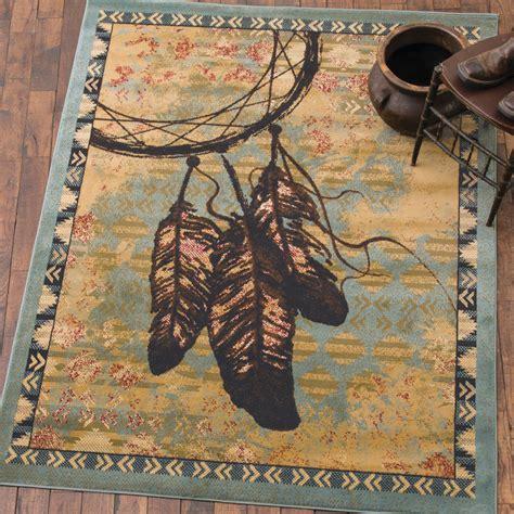 southwest rugs    southwestern feather blue ruglone