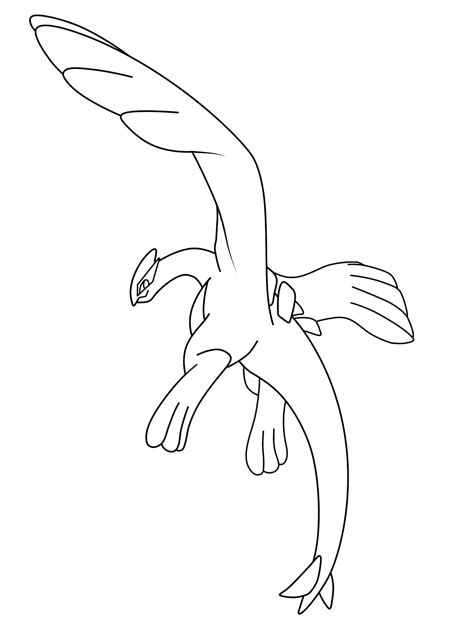 free printable pokemon lugia coloring pages