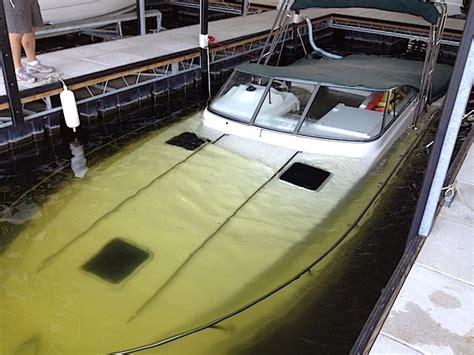 rinker boats lake of the ozarks rinker sinks in dock slip at grand glaize the lake
