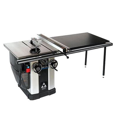 task table saw review delta 36 l552 unisaw cabinet table saw reviews by tool nerds