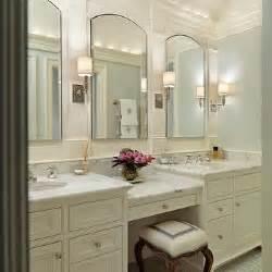 Built In Bathroom Vanity Built In Make Up Vanity Traditional Bathroom