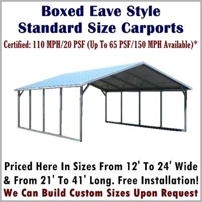Carport Sizes And Prices Metal Carport Prices Steel Carport Kits Metal Carport