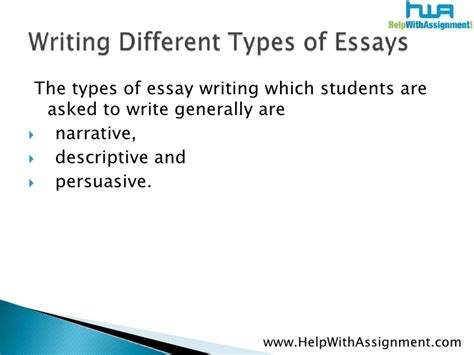 Descriptive And Narrative Essay by Different Forms Of Essays