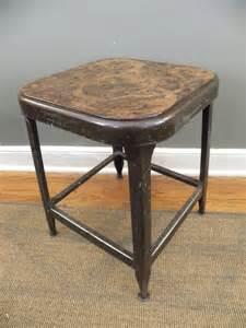 vintage industrial age metal shop stool by