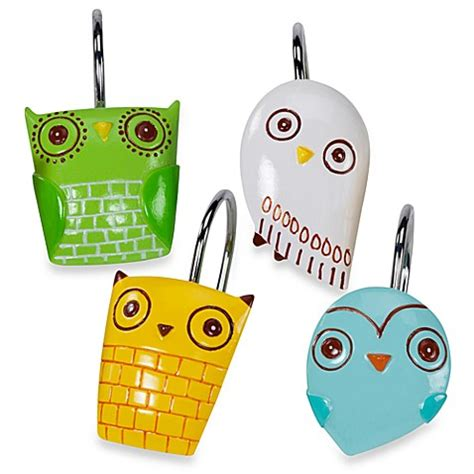 give a hoot shower curtain give a hoot shower curtain hooks bed bath beyond