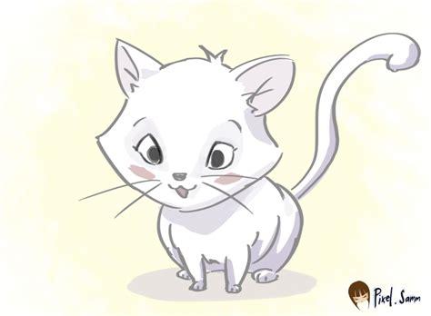 cute cat drawings cute kitten drawing annokat of a cat litle pups
