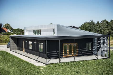 houses made from shipping containers upcycle house two prefabricated shipping containers recycled soda cans modern