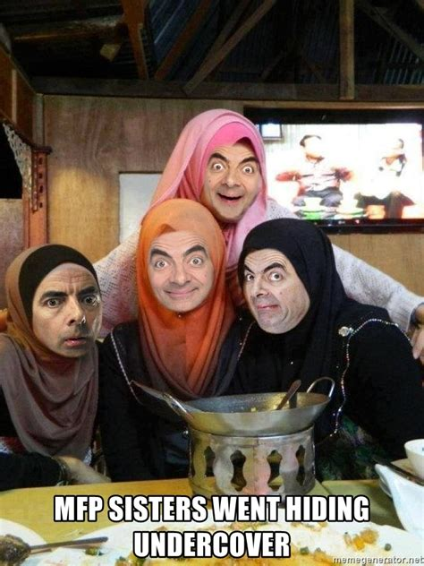 Undercover For Muslimah mfp went hiding undercover muslimah mr bean